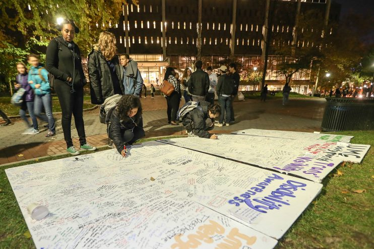 U Penn students show solidarity